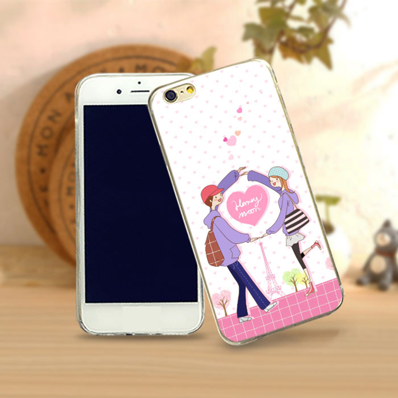 lover couple phone case for apple i4 Popular custom beauty Wholesale Ultra Thin TPU Beauty Grid