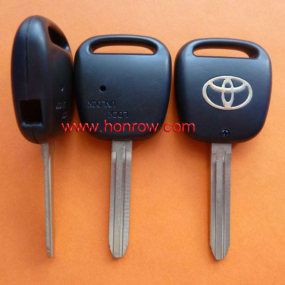 High Quality Toyota 1 button remote key shell with TOY43 blade (with light hole),Toyota key blank,Toyota keys