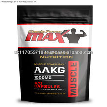 Muscle Power Max Foil Pack AAKG 1000mg Amino Acids High Strength Capsules Wholesale Diet Supplements