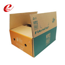 High quality custom corrugated cardboard die cut fruit vegetable packaging carton box