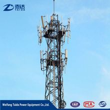 GSM ASTM or Q345 Steel Customized 4-legged Steel Lattice Tower