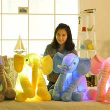 Top selling Colorful Glowing Soft Stuffed Plush Toy animal Elephant Pillow Flashing LED Light