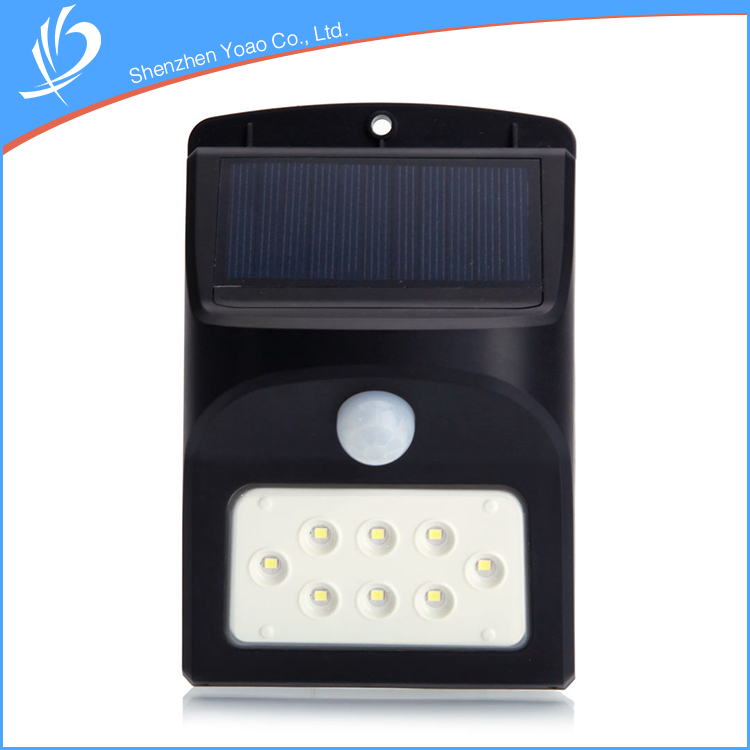 no pollution light control garden led sensor lamp with 1800mA Lithium-ion Battery