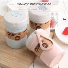 15 Years Manufacturer Hot Sale Wheat Straw Cup Reusable Coffee Cup