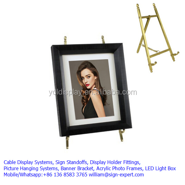 Brass Collapsible MINI Painting Display Table Top Easel