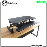 ergonomico electric sit stand riser and standing computer desk stand VM-LD02-A4 height adjustment