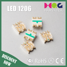 Harvatek 3.2 x2.7x1.1mm sanan chip 30mA super bright 1206 rgb smd led