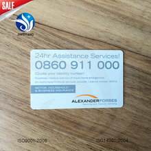 Plastic standard financial magnetic business card CR80