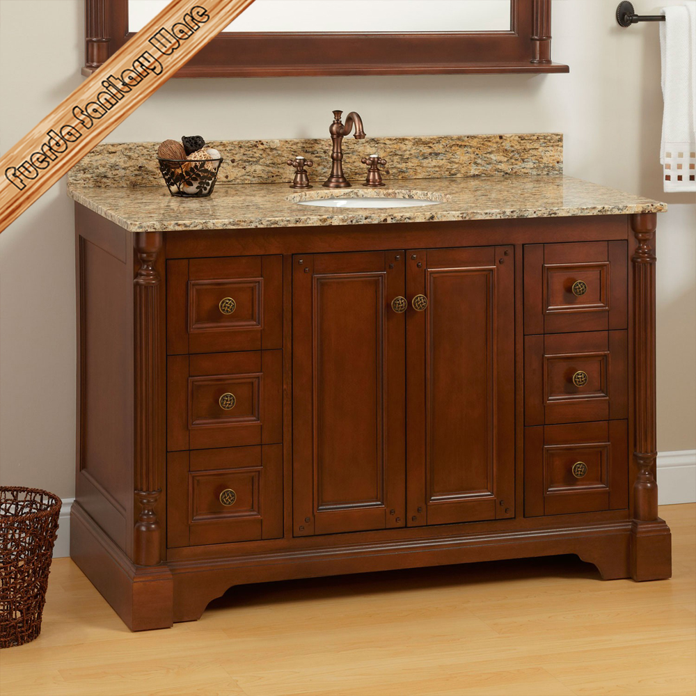 hot sales single sink solid wood bathroom vanity