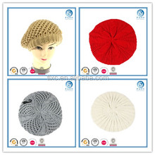 2017 lady fashion beret acrylic knitted beret button decoration beret