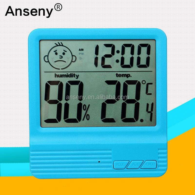 Baby Room Rectangular Hygrometer Thermometer With <strong>Max</strong>/min Memory