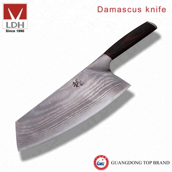 LDH High Quality With Pakka Handle By Purely Manual Damascus Knife
