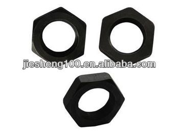 thin hex nut/ long hex nuts with black zinc