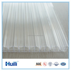 Clear PC HR1603 Polycarbonate Hollow Sheet Blue Color for Skylight, Greenhouse