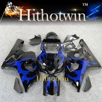 2004 2005 GSXR600/750 K4 For Suzuki GSXR600 blue flames GSXR750 2004 2005 ABS Plastic Fairing Bodywork Set Kit