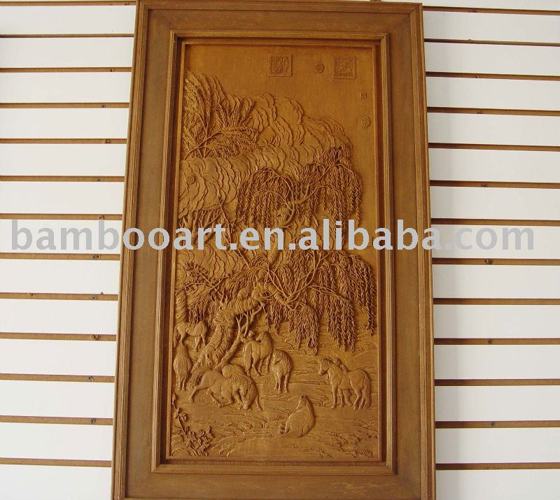 wood carving handicraft