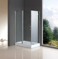 rectangle tempered glass seal strip shower cubicle