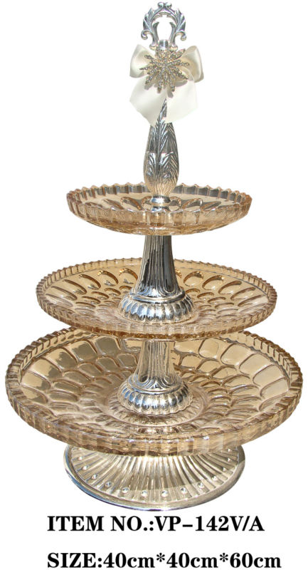Glass 3 tier fruit tray