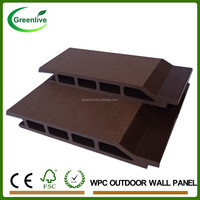 Wood plastic composite outdoor decorative wpc wall panel