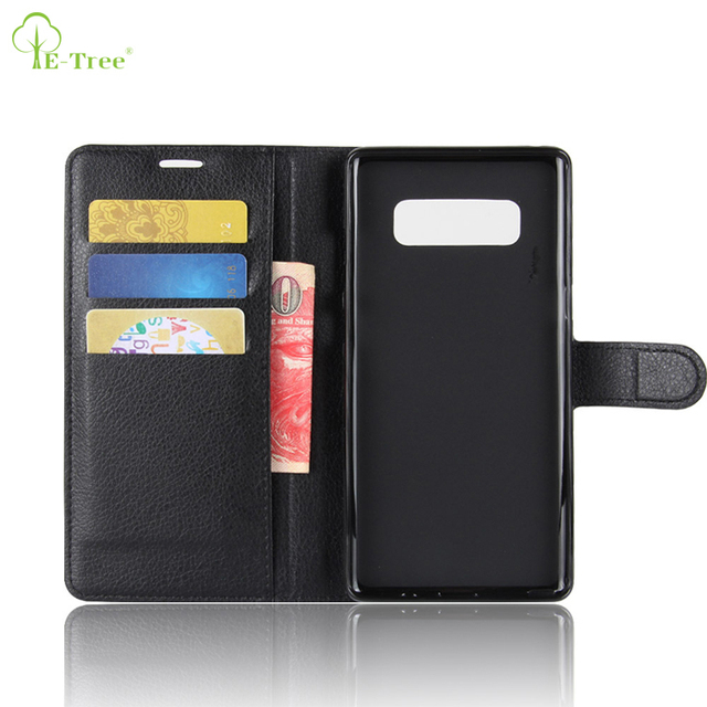 NEW IN STOCK flip leather wallet phone case for Samsung Galaxy NOTE 8, folio leather skin cover for Galaxy NOTE 8