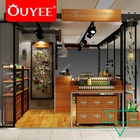 Mdf Wooden Luxurious Boutique Cosmetic Shop Decoration Design