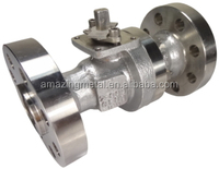 stainless steel 2pc flanged metal seated ball valve