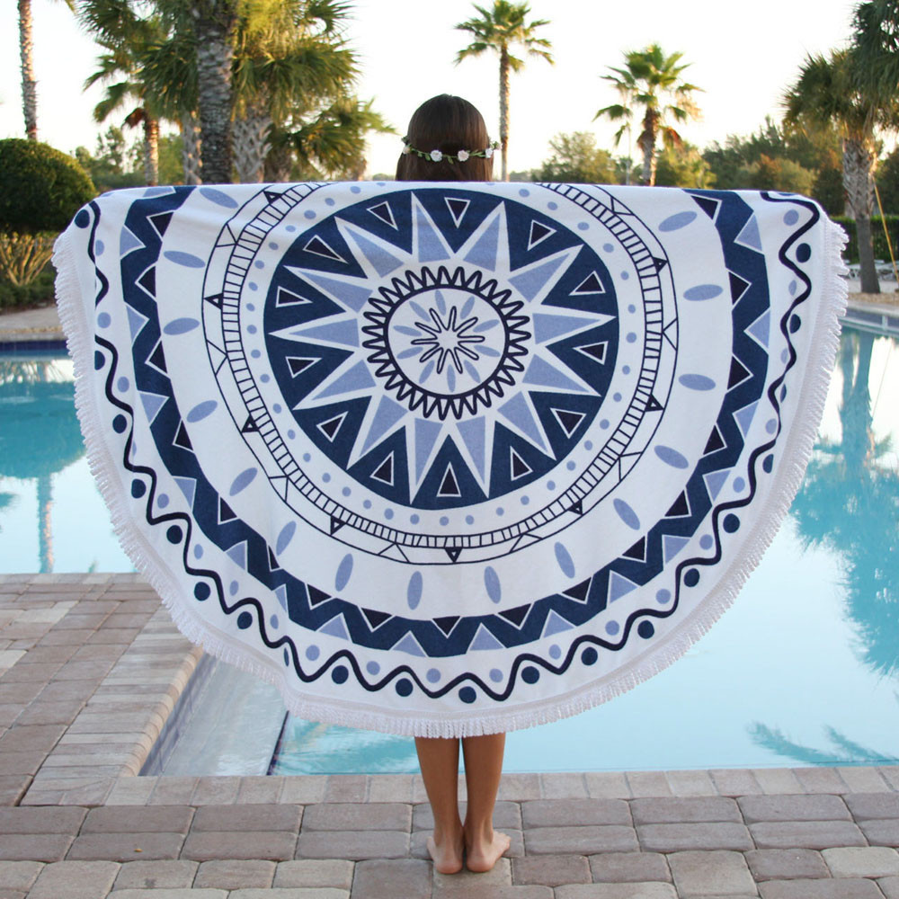Sublimation printed Microfiber round beach <strong>towel</strong> 2016