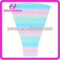 China disposable promotional rainbow printing plastic floral wrap sleeve bag