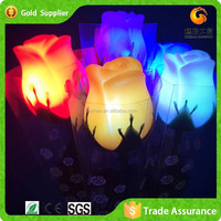 Short Lead Time LED Color Changing Artificial Garden Rose