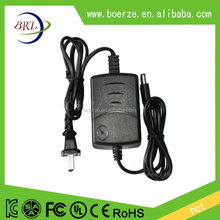Double cable ac dc 12v 1a 2a power adapter