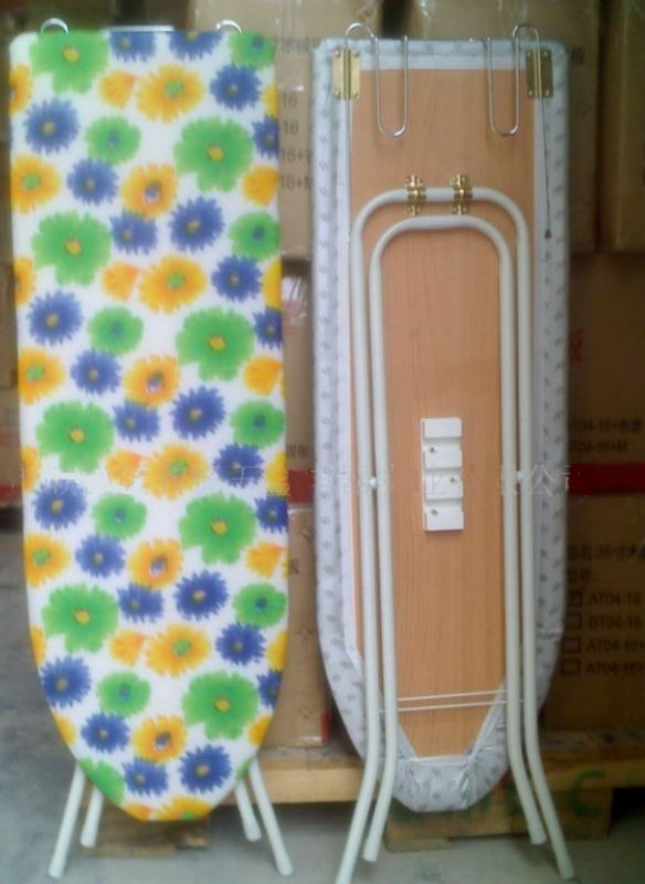 Household Wide Top 4 Leg Mega Pressing Station Ironing Board with flower cotton Cover