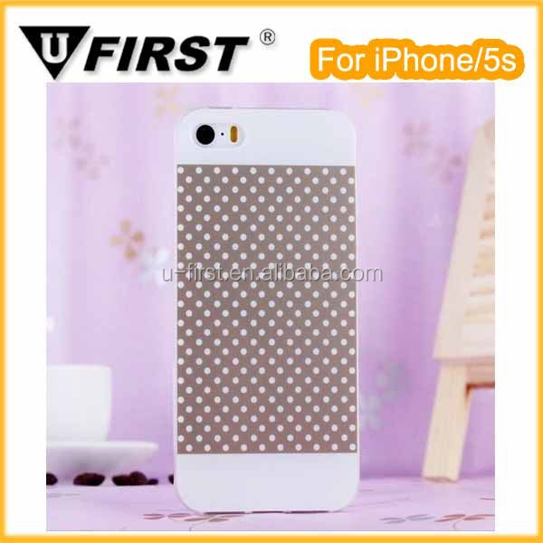 Hot sales simple dot TPU case for iPhone5s