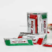 liquid small bag packing soy sauce contain soybean and wheat suitable for dipped to eat