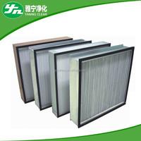 mini-pleat 99.999% 0.3um hepa air filter / hepa air purifier china manufacturer