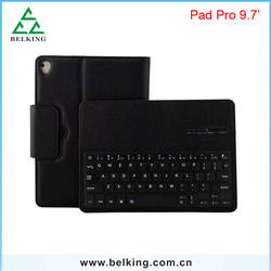 "Wireless Bluetooth Keyboard For iPad Pro 9.7"" 2in1 keyboard leather case"
