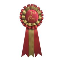 Wholesale Brand Name Printed Lace Award Ribbon Rosette Celebrated it Ribbons With 1st 2nd 3rd