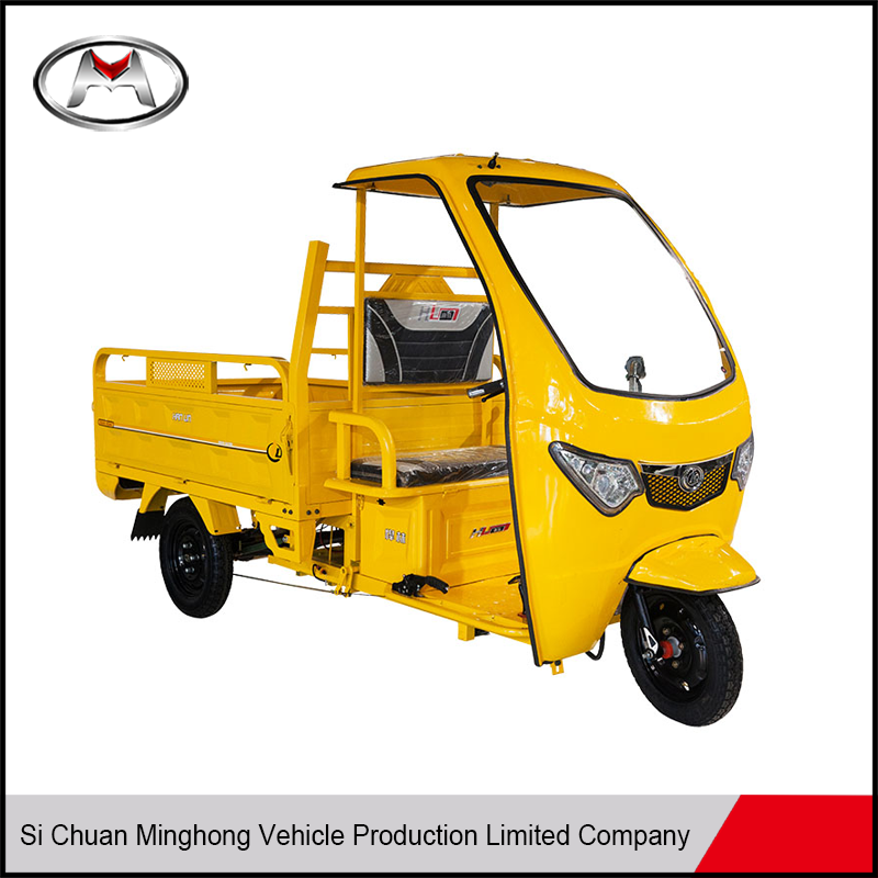 Auto high quality easy-handling motorized big wheel tricycle