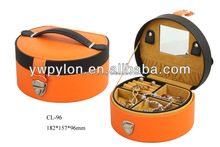 High quality leather small travel jewelry case from china supplier