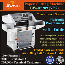 Advertising Agency Hydraulic Programmed 520mm 1000 Sheets A4 A3 size paper cutter