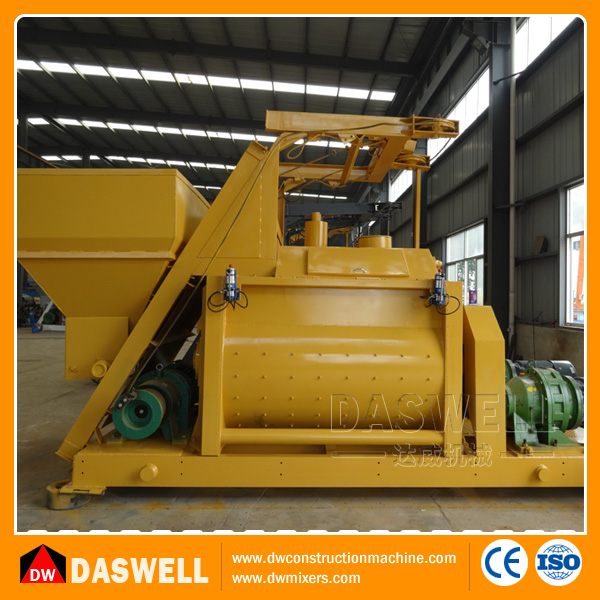Price of JS Forced Weigh Batching Concrete Mixer with Lift Sale