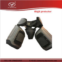 tactical combat anti riot thigh protector with groin protector for defense personal