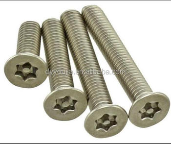 ISO14584 Stainless Steel Hexalobular socket raised countersunk head screws