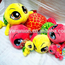 2015 hot sale plush turtles for sale , assorted colourful plush trutles toy soft