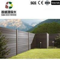 2015 good selling wood plastic composite fence panels made in China