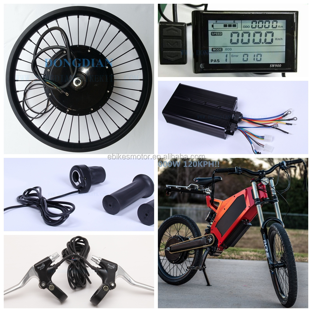 2015 hot new high power speed 100KPH 72v 3000w bicycle engine kit