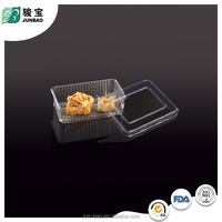 China Factory food grade PET Clear vacuum formed rectangular clear plastic tray