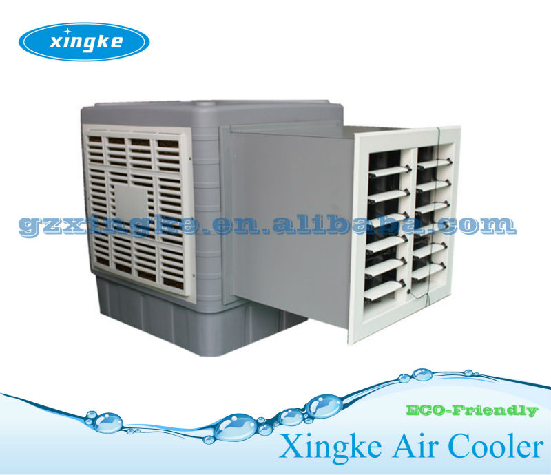,no compressor,no R22 or R410 freon gas wall mounting evaporative swamp cooler for Industrial plants