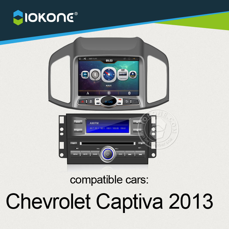 iokone touch screen car dvd stereo player with gps navigation for Chevrolet Captiva 2013