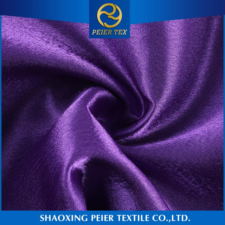 Factory direct shaoxing smooth anti static fabric poly fabric satin textile