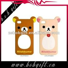 Hot selling rilakkuma silicone phone case